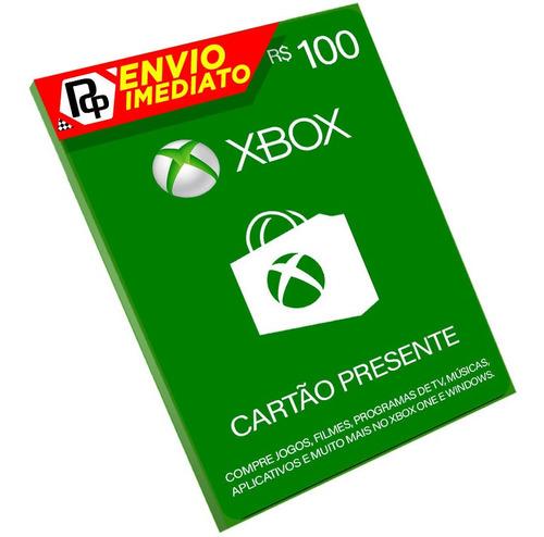 Cartão Xbox R$100 Reais. One, 360, W!