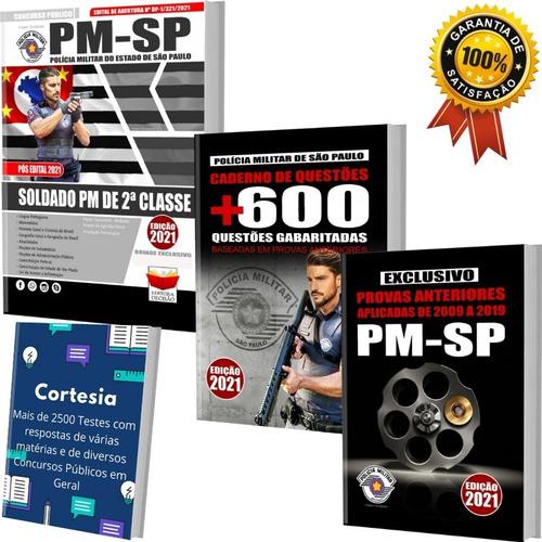 Kit Apostila Caderno De Testes Pm Sp Soldado Pmsp