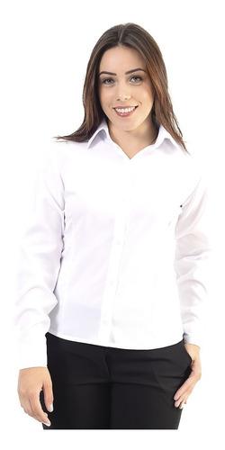 Camisa Camisete Social Feminina Manga Longa Direto  Fabrica
