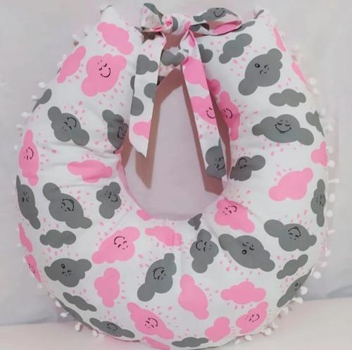 Almofada Para Amamentação - Travesseiro Nuvem Rosa Bebê