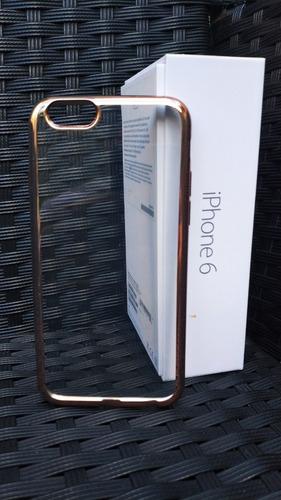 Carcasa iPhone 6 / 6s / 7 Transparente Oro Rosado Case