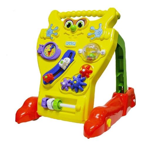 Andador Infantil Para Bebê Educativo 2 Em 1 Menino E Menina