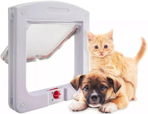 Portinha Porta De Passagem P/ Cato Cachorro Pet Door 4 Em 1