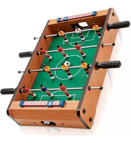 Pebolim Jogo Totó Mini Mesa Futebol 12 Jogadores 51cm