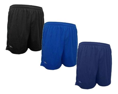 Kit 3 Shorts Corrida 100% Poliéster Leve E Confortável