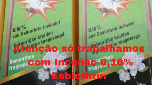 Incenso Mata Mosquito, Muriçoca Carapaná  0,15% 300 Unidades