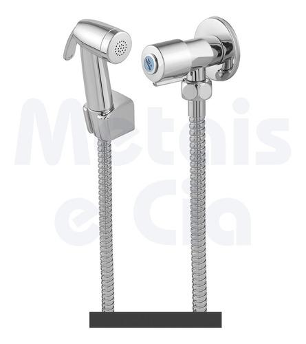 Ducha Higiênica Luxo Em Metal 1/4 Volta Cromado C65
