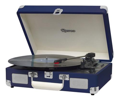Vitrola Raveo Sonetto Chrome Navy, Toca Discos, Usb, Bt, Rec