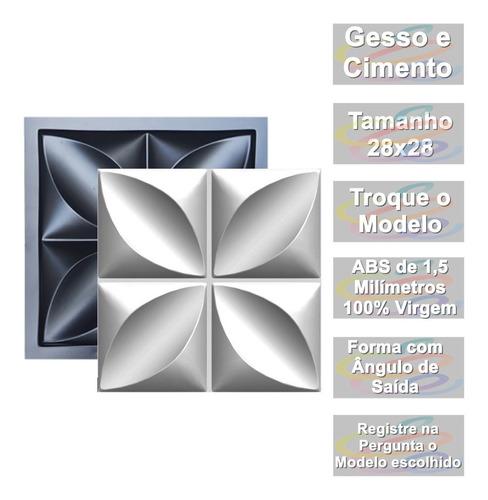 Forma Pra Gesso 3d E Cimentício Abs 1,3mm Rosa Flor 29x29