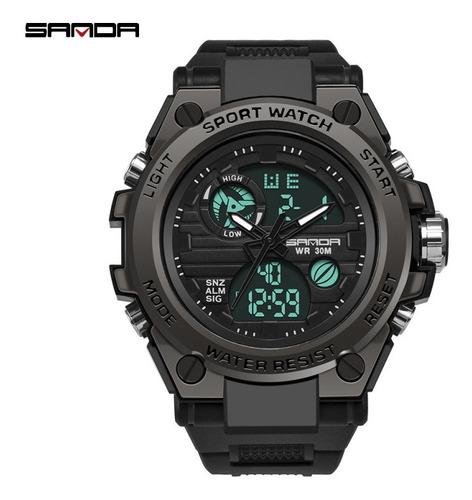 Sanda739 Relógio Esportivo Masculino Multifuncional