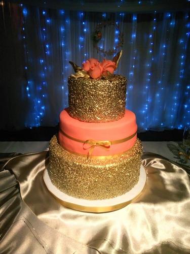 Torta De Cumpleaños Corona Princesa Flores Antifaz