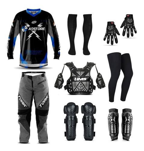 Conjunto Motocross Trilha Roupa Ad Store Insane X + Brinde
