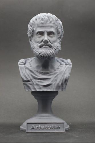 Escultura Estatua Busto Filósofo Grego Aristóteles