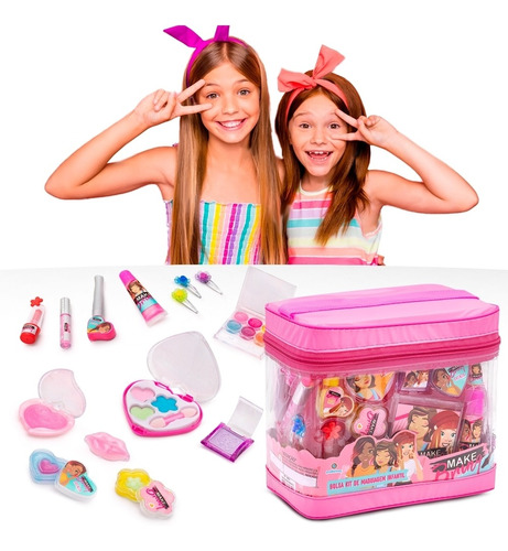 Maquiagem Infantil + Maleta - 20 Itens Completo Makebrinq