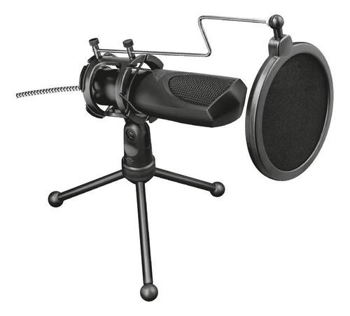 Microfone Trust Gxt 232 Mantis 22656 Omnidirecional C/ Tripé