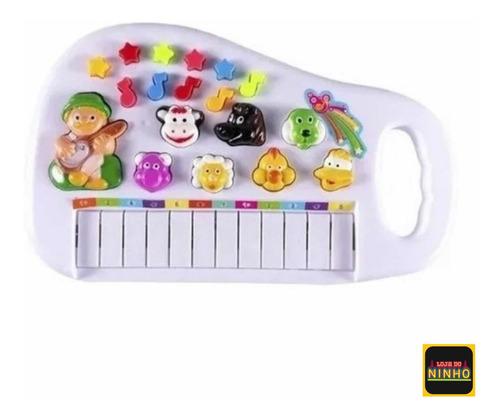 Piano Infantil Teclado Para Criança Com Som Dos Animais Bebe