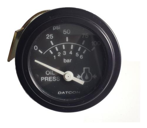 Reloj Presión De Aceite Motor, 12v - Redondo - Diámetro 50mm