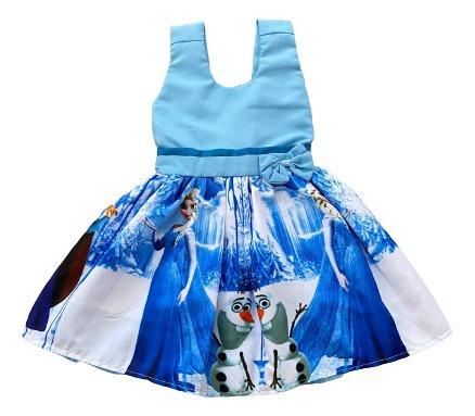 Vestido Temático Princesa Frozen Infantil Envio Rápido