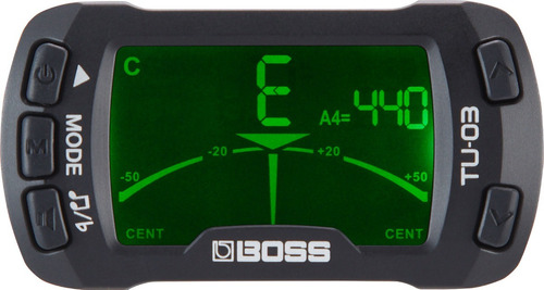 Afinador Metrônomo Boss Tu-03 Cromático Clip P/ Instrumentos