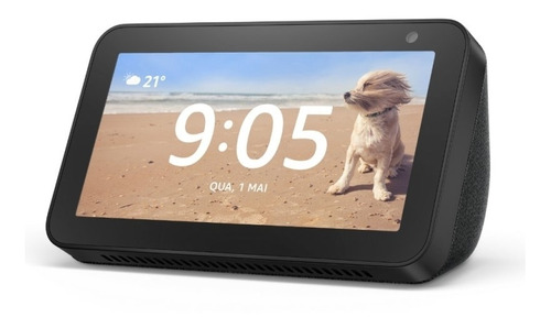 Smart Speaker Amazon Alexa Echo Show 5 Com Tela 5.5'' Preto