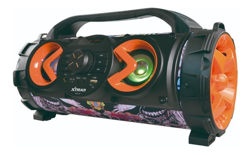 Alto-falante Xtrad Super Basuka Portátil Com Bluetooth Multicolor 110v/220v
