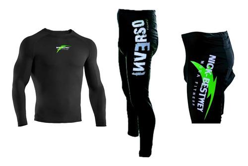 Kit Camisa Calça E Bermuda Ciclismo Bike Acolchoadas