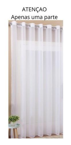 Cortina Voil Transparente Para Quarto Ou Sala 1,40 X 1,70 M
