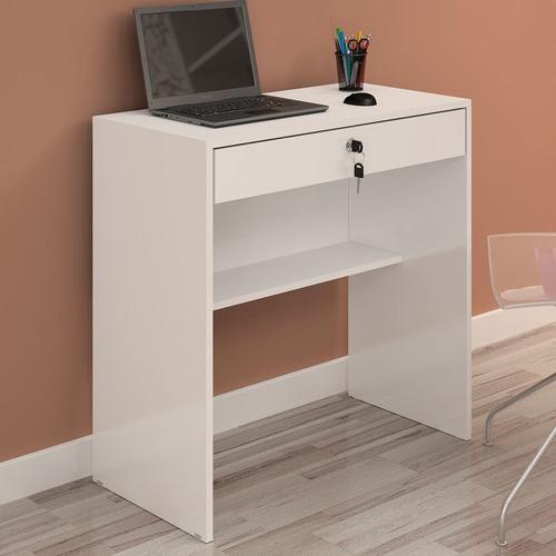 Escrivaninha Com 1 Gaveta Andorinha Branco