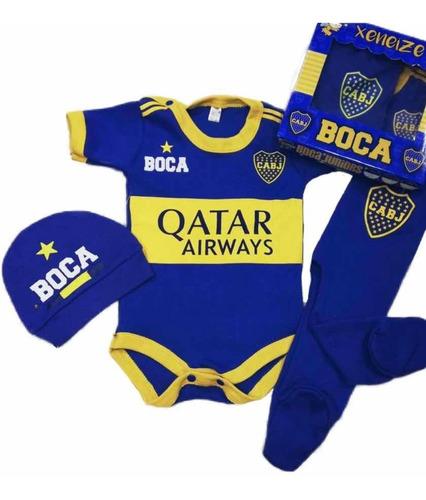 Set De Bebe Boca Juniors
