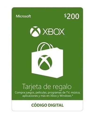 Tarjeta De Regalo Xbox De 200 Pesos Entrega Inmediata