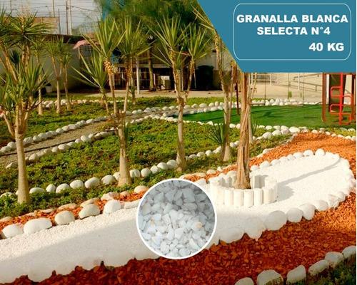 Piedra Granalla - Blanca Selecta 4 Especial, Saco 10 Y 40 Kg
