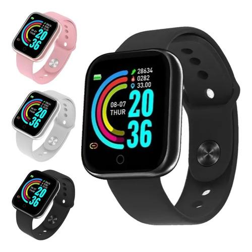 Relógio Smartwatch D20 Preto- Atualizado Versão 2021 (foto N