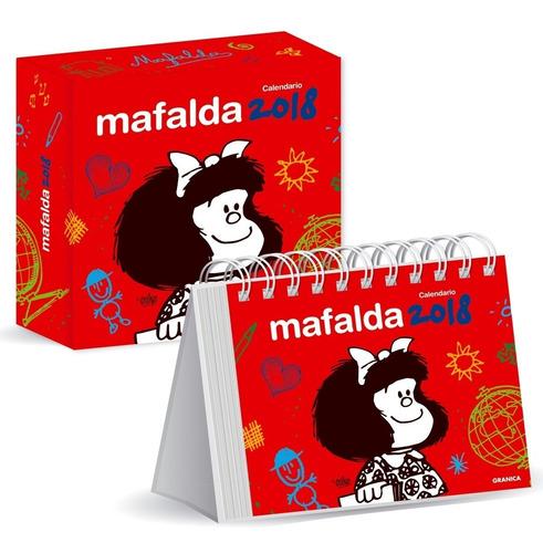 Mafalda 2018 Calendario De Escritorio-rojo (versión Español)
