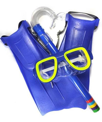 Kit Mergulho Brinquedo Infantil Máscara Snorkel Pé De Pato