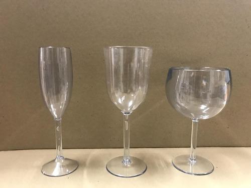 Copas Champagne , Vino , Gin , Vasos,material Policarbonato