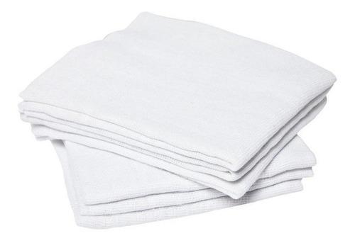 Pano De Chao Atacado Alvejado Branco Grande Kit Com 10 Peças