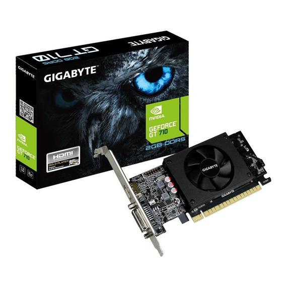 Placa de video Nvidia Gigabyte GeForce 700 Series GT 710 GV-N710D5-2GL 2GB