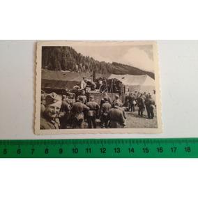 Foto Original Soldados 2ª Guerra Mundial Acampamento