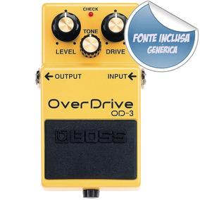 Pedal Efeito Overdrive Boss Od-3 Rock Metal + Fonte Bivolt