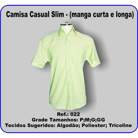 Molde Camisa Casual Slim 022