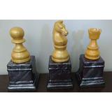Trofeos Piezas De Ajedrez Ceramica - Caballo, Torre Y Peon