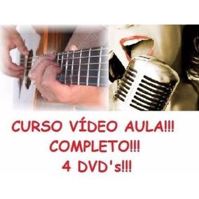 Curso De Guitarra E Canto! Aulas Em 4 Dvds Nfd