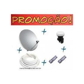 Antena 60 Cm Banda Ku + Lnb + 20 Mts De Cabo + Fixação