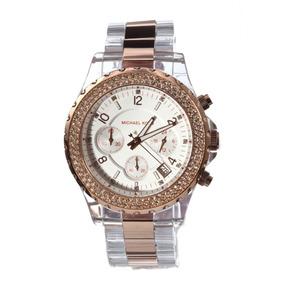 98e97629f3357 Relógio Michael Kors Mk5323 Rose Transparente - Relógios De Pulso no ...