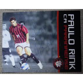 Card Paulo Rink Clube Atlético Paranaense Autografado