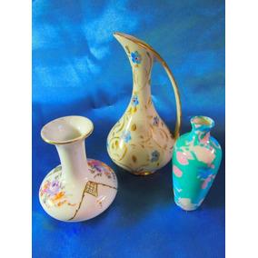 Floreros Miniatura Y Jarra De Porcelana 2009