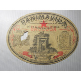 Etiqueta Agua Mineral Panimavida Antigua Linares