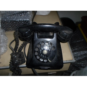 Telefone Preto Antigo De Mesa De Bakelite