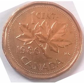 Moeda 1 Cent Dolar Canadense