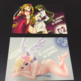 2 Cartões Cartão Postal Anime / Mangá Animadas Animax O2 O3